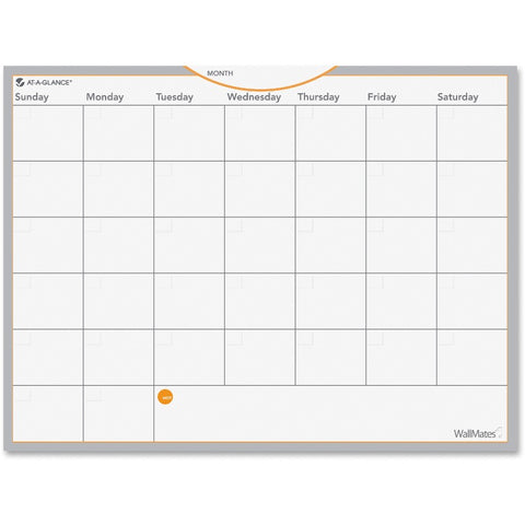 At-A-Glance WallMates Self-Adhesive Dry Erase Monthly Plan Surface