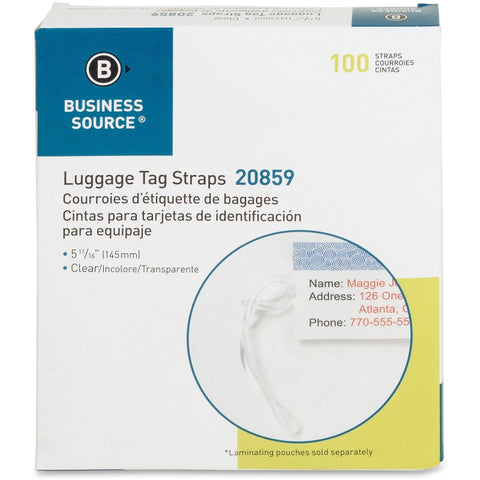 Business Source Luggage Tag Plastic Strap