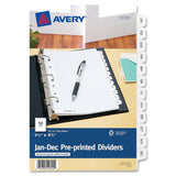 "Avery 5-1/2"" x 8-1/2"" Mini Pre-printed Tab Dividers"