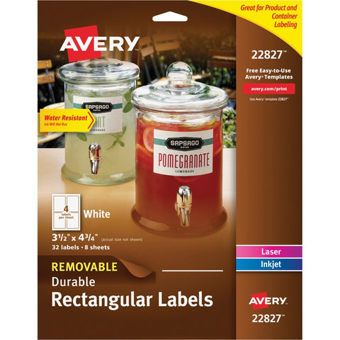 Avery Removable Durable Rectangular Labels