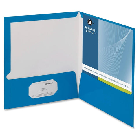 Business Source 2-Pkt Report Covers with Bus Card Holder