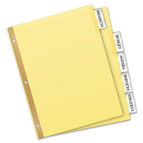 Avery Big Tab Buff Colored Insertable Dividers - Gold Reinforced