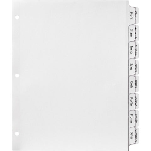 Avery Index Maker Print & Apply Clear Label Double Column Dividers