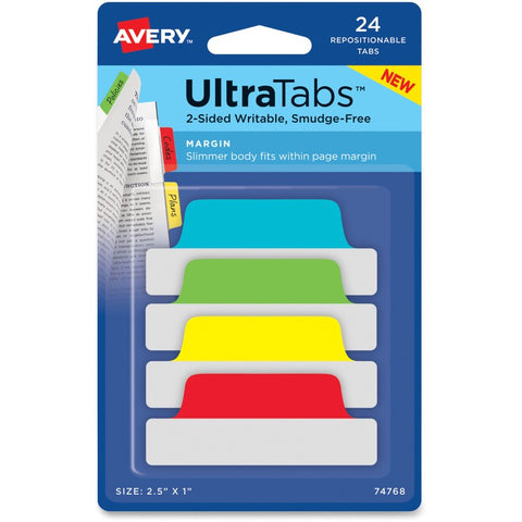 Avery UltraTabs Repositionable Margin Tabs
