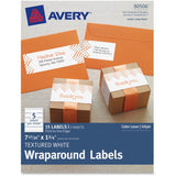 Avery Textured White Print-to-the-Edge Wraparound Address Labels
