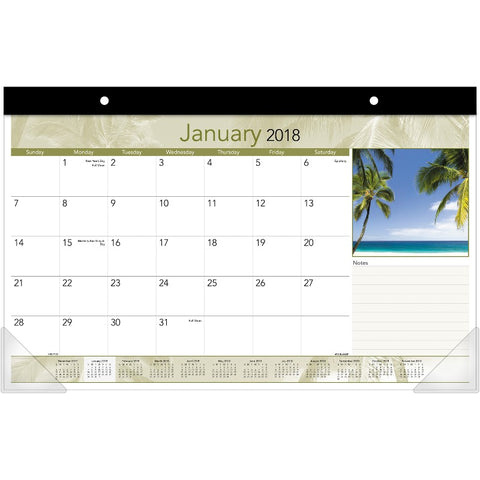 At-A-Glance Tropical Design Compact Monthly Desk Pad