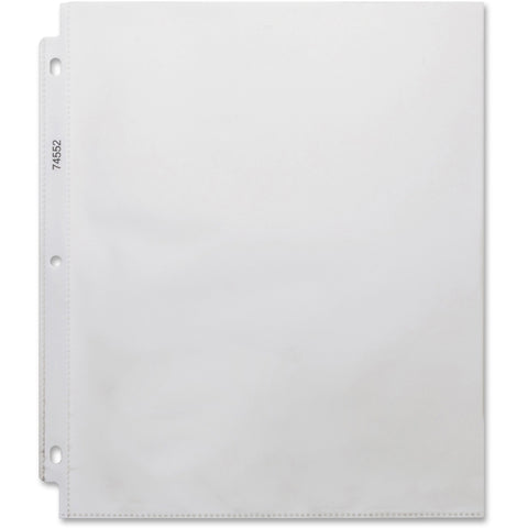 Business Source Top-loading 3-hole Sheet Protectors