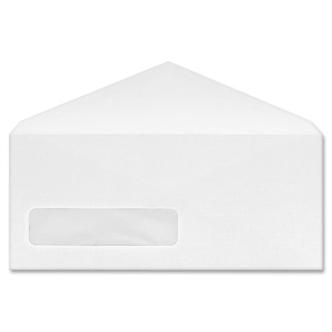 Business Source No. 9 V-flap Window Display Envelopes