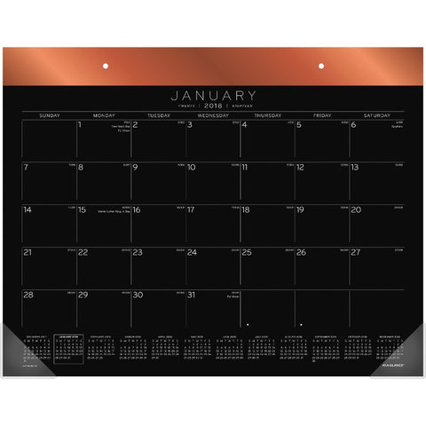 At-A-Glance Black Paper Calendar Desk Pad