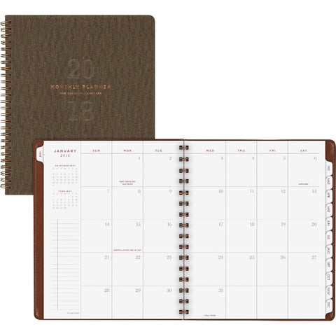 At-A-Glance Signature Collection Monthly Planner, Olive Green