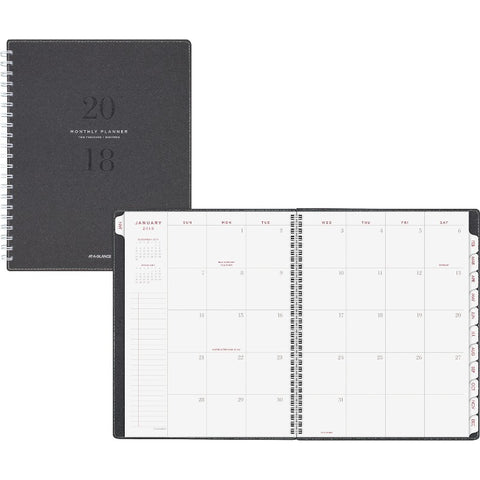 At-A-Glance Signature Collection Monthly Planner, Gray