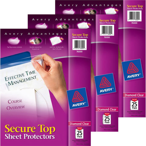 Avery Secure Top Sheet Protectors