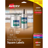 Avery Easy Peel Glossy Clear Labels