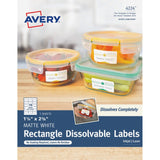 Avery Rectangle Dissolvable Labels