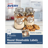 Avery Round Dissolvable Labels