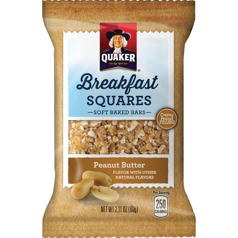 Quaker Oats Foods Breakfast Squares Soft Baked Bars