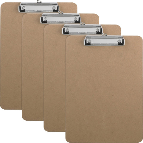 Business Source Flat Clip Hardboard Clipboard
