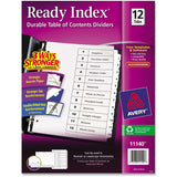 Avery Ready Index Customizable Table of Contents Black & White Dividers