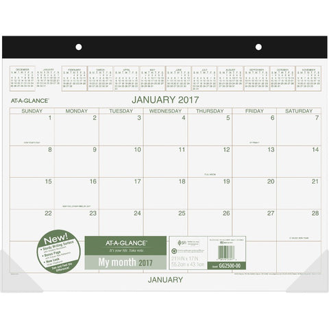 At-A-Glance Two-Color Monthly Desk Pad