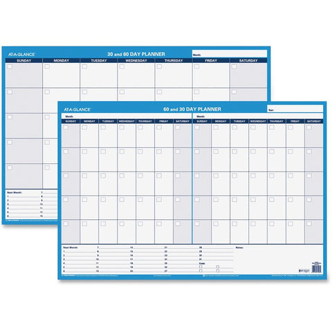 At-A-Glance 30/60-Day Erasable Horizontal Wall Planner