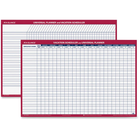 At-A-Glance Undated Erasable Universal/Vacation Scheduler