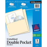 Avery Untabbed Double Pocket Dividers