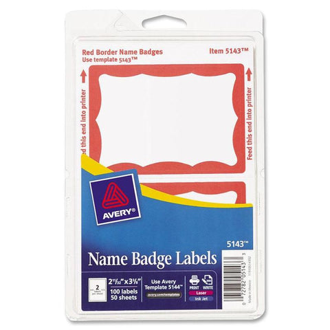 Avery Adhesive Name Badge Labels