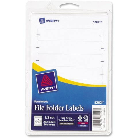 Avery Permanent File Folder Labels