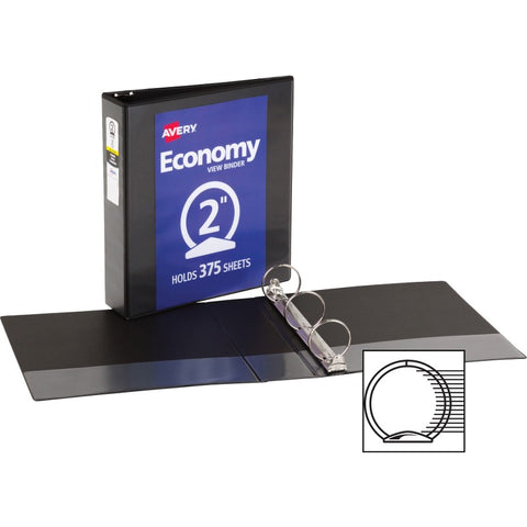 Avery Economy View Binders with Round Rings - without Merchandising