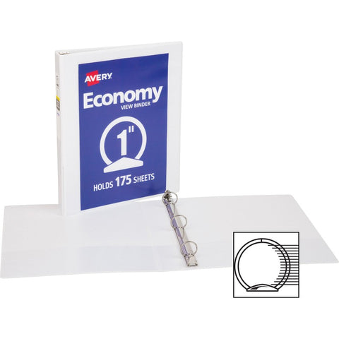 Avery Economy View Binders with Round Rings - with Merchandising
