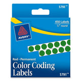 "Avery 1/4"" Round Color Coding Labels"