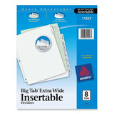 Avery Big Tab Extra Wide White Insertable Dividers - Clear Reinforced