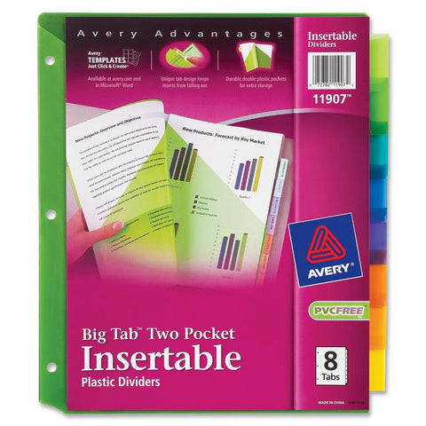 Avery Big Tab Plastic Insertable Dividers