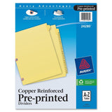 Avery Laminated Pre-printed Tab Dividers - Copper Reinforced