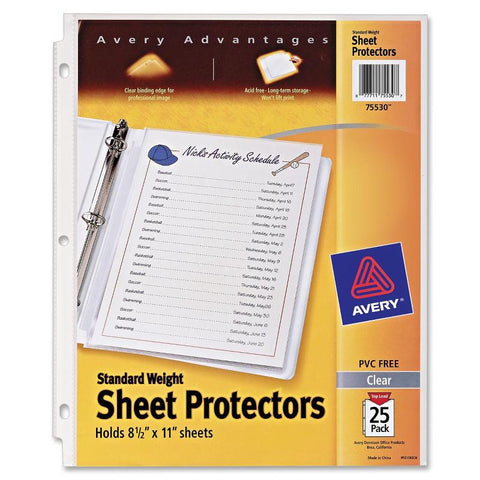 Avery Standard Weight Sheet Protectors
