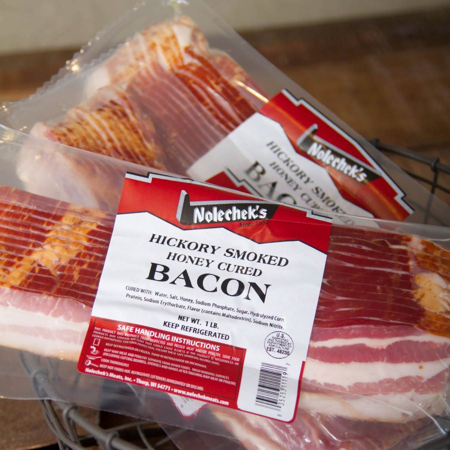 Hickory Smoked Honey Cured Bacon - Nolechek's Meats, Inc.