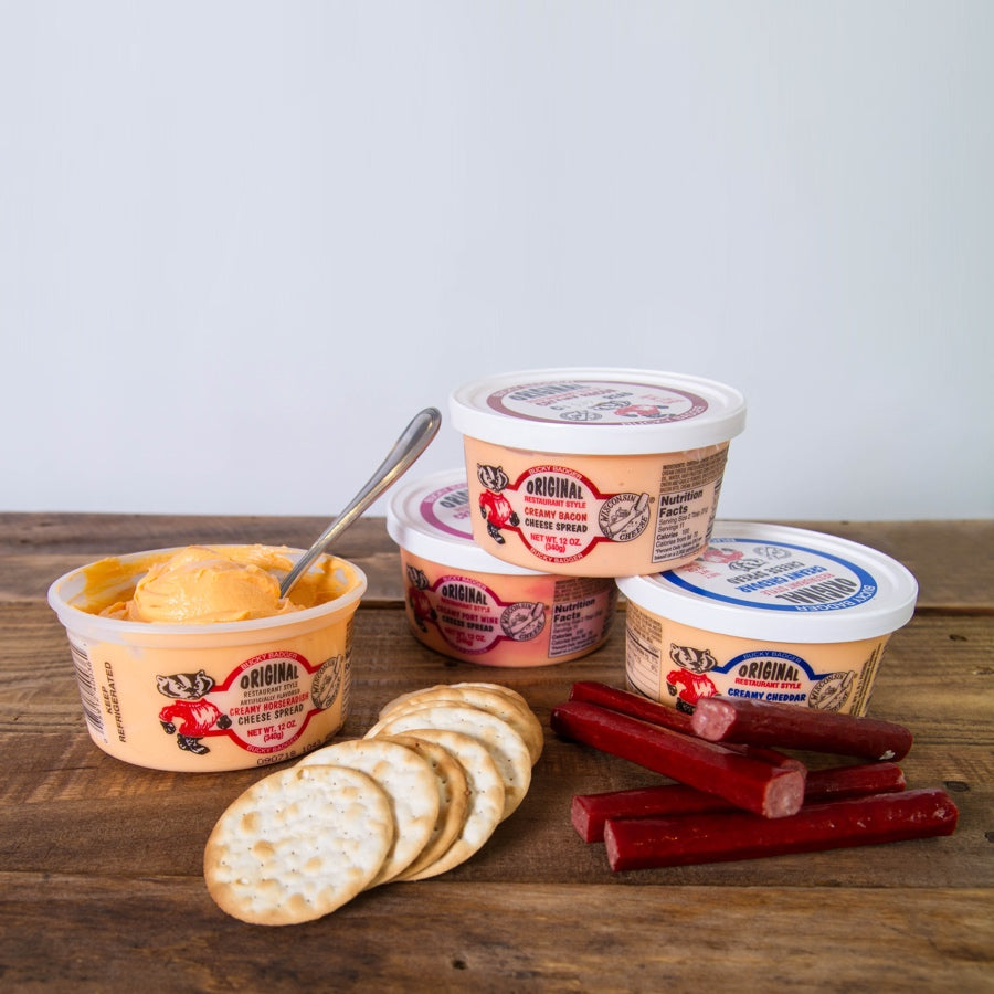 Bucky Badger Cheese Spreads - Nolechek's Meats, Inc.