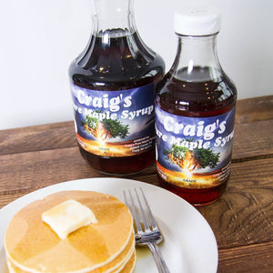 delicious varieties of pancake and breakfast syrups specially made near Thorp, WI