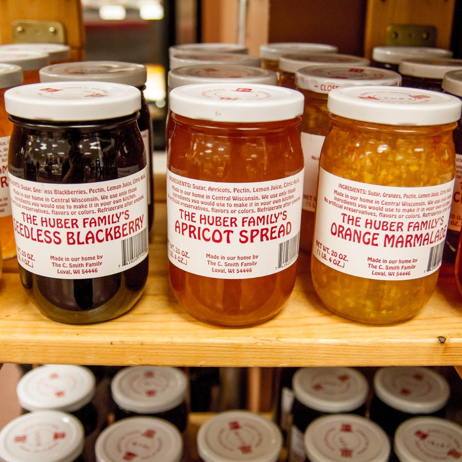 famous Huber Spread varieties made specially near Thorp, WI