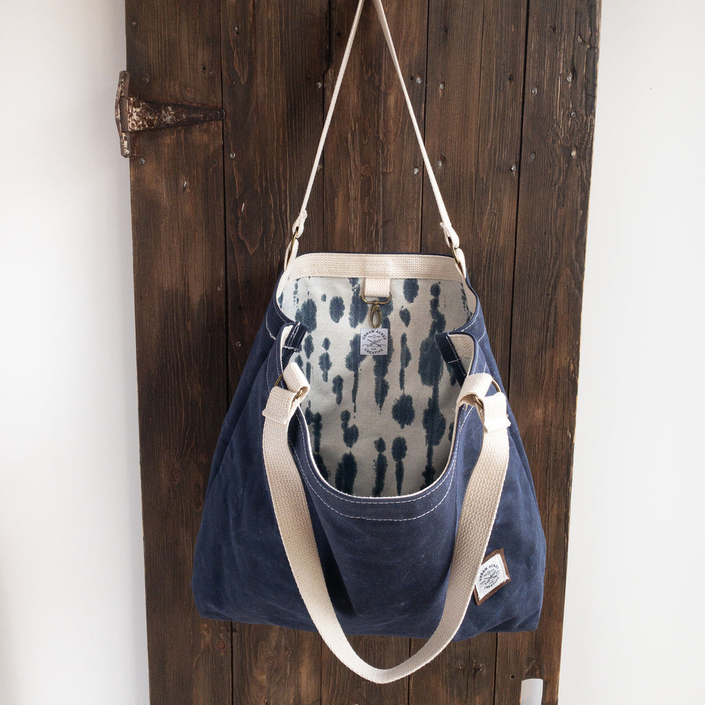 ALEXANDRIA - Large Tote Bag - Navy + Tie Dye