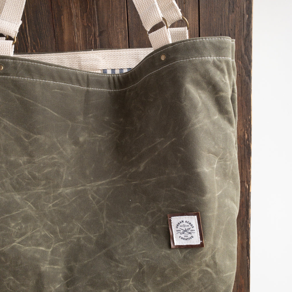 ALEXANDRIA - Large Tote Bag - Olive + Stripe