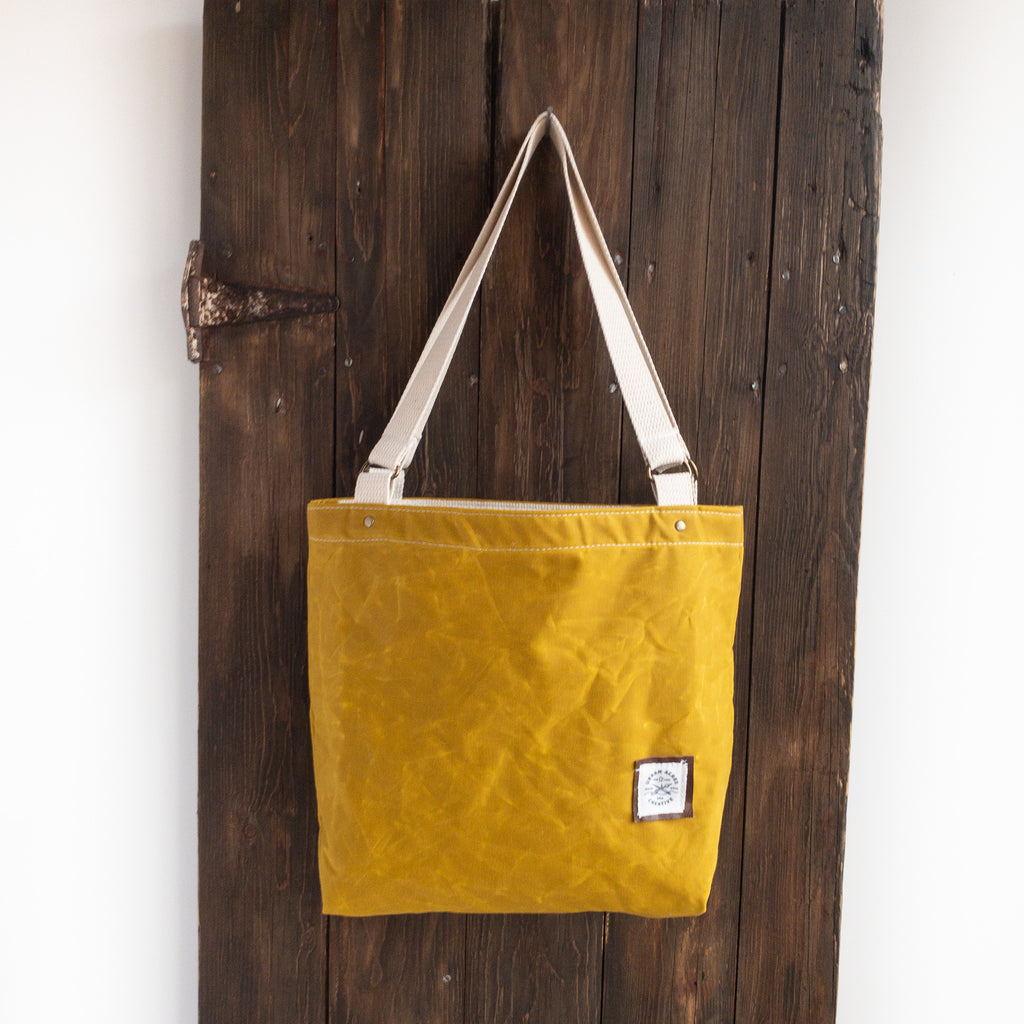 BLAINE - Small Tote Bag - Mustard + Floral