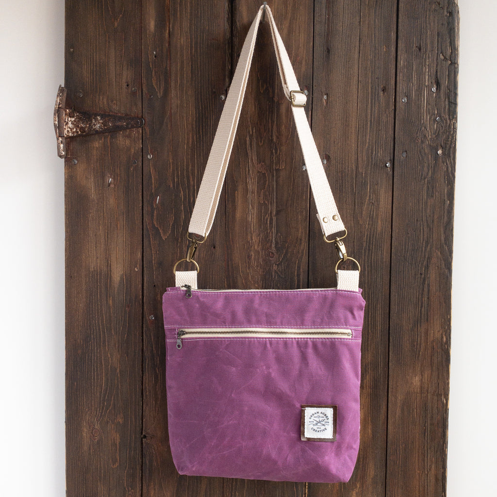 BRECKENRIDGE - Large Crossbody - Magenta + Navy Tie Dye