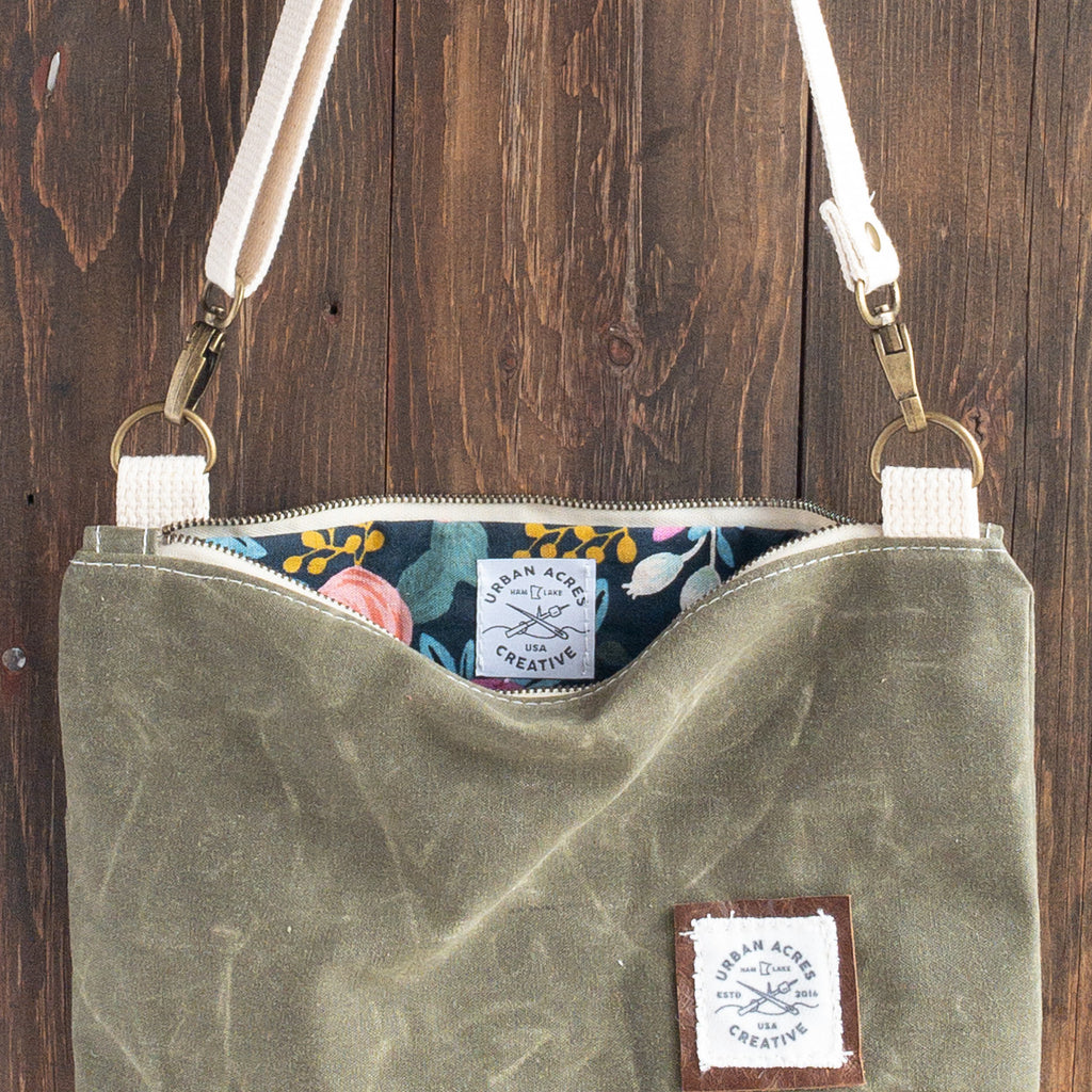 WINONA - Small Crossbody - Olive + Navy Floral