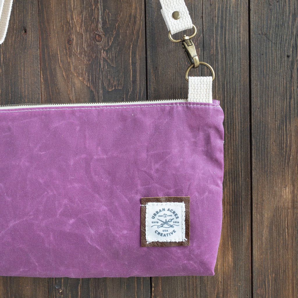 WINONA - Small Crossbody - Magenta + Navy Floral
