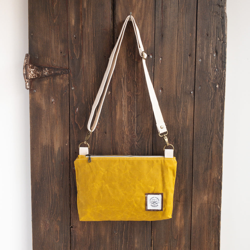 WINONA - Small Crossbody - Mustard + Navy Floral