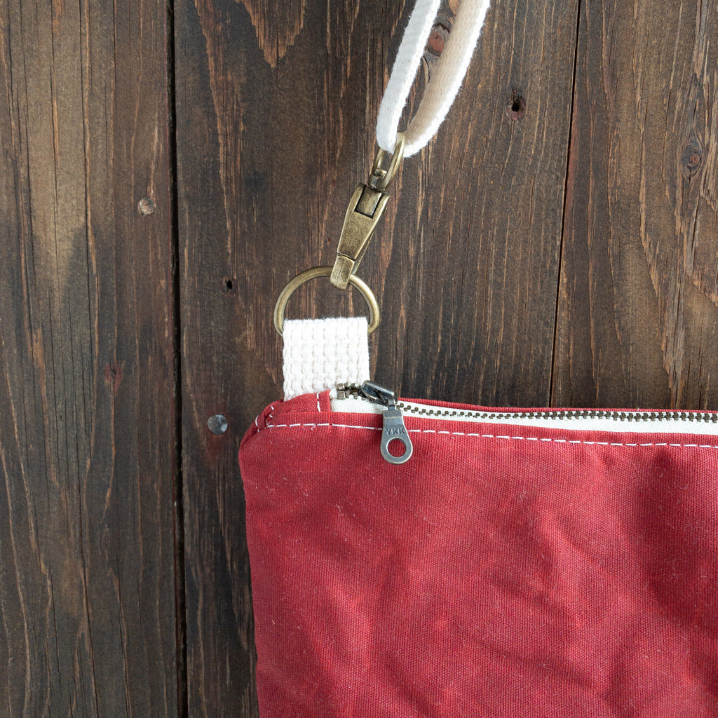 WINONA - Small Crossbody - Red + Navy Stripe