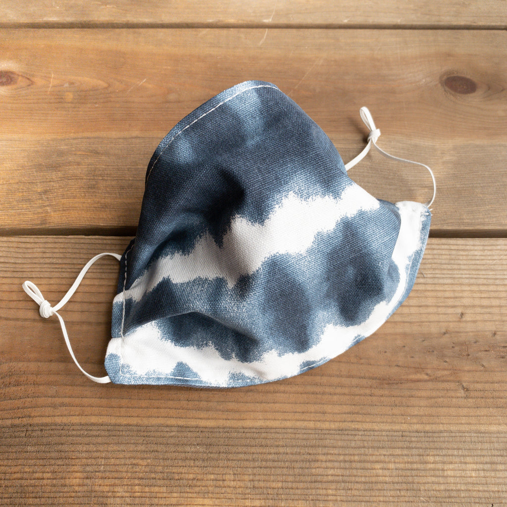 Navy Tie Dye Face Mask