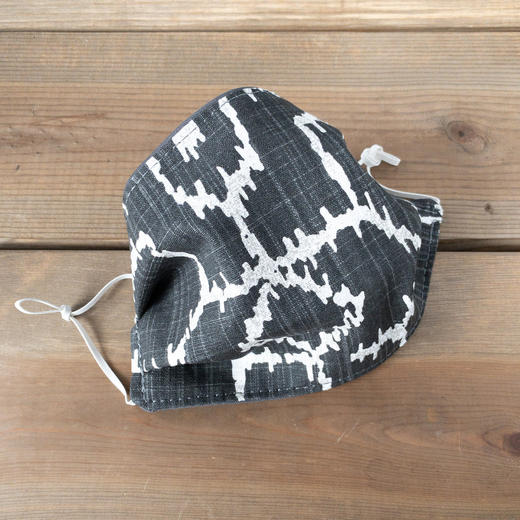 Charcoal Ikat Face Mask