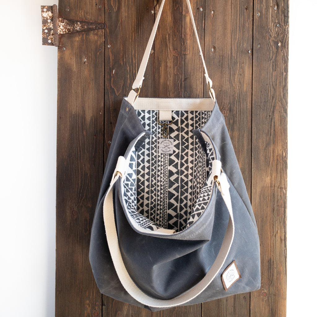 ALEXANDRIA - Large Tote Bag - Grey + Tribal